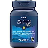 GNC DHA 1000 三倍强度迷你软胶囊,有益于关节,皮肤,双眼和心脏,90粒