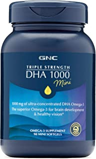 GNC 健安喜 三倍效力 DHA 1000 粒迷你胶囊