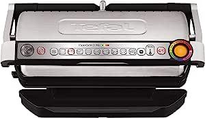 Tefal 特福 OptiGrill+ XL GC722D40 智能健康烤架 包括9种自动设置和烹饪传感器,不锈钢, 2000W, 6-8人份