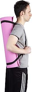 Mind Reader YOGAPVC-PNK 多功能超厚瑜伽健身和运动垫,带便携带,高*抗撕裂,粉色