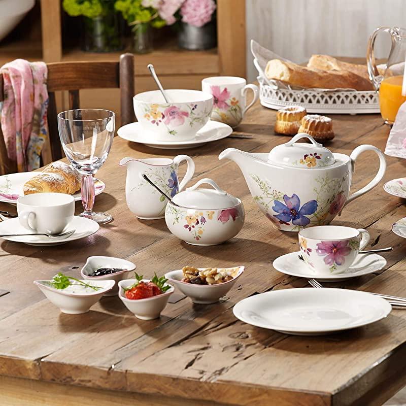 Villeroy & Boch 德国唯宝 Mariefleur 紫色迷情(灰)系列 陶瓷茶壶 1.2L ¥413.14秒杀