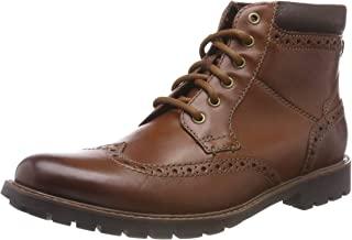 Clarks 男士 Curington Rise 切爾西靴