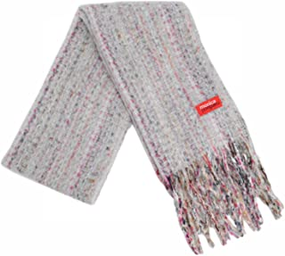 Monica Narducci 女士 Sciarpone 混色 Grigio Chiaro4 时尚围巾,浅灰色,均码
