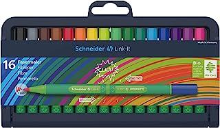 Schneider Link-It 纤维画笔(毛毡笔 1.0 毫米线迹 简单插入放置 随心组合使用) Fasermaler 16er 分类