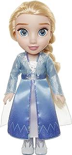 Disney 冰雪奇缘 2 艾莎冒险玩偶,14 英寸高,带闪闪发光的冰水晶翅斗篷,靴子和华丽的发型 - 适合 3 岁以上儿童