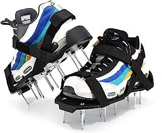 Kepoita 草坪曝气鞋均码草坪充气凉鞋带钉,用于种植草坪花园,减少草坪堆肥,恢复土壤*