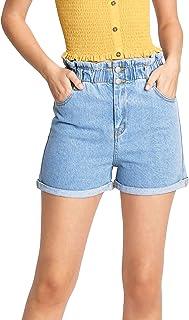 Love Tree 女式青少年纸袋腰牛仔短裤