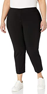 SLIM-SATION 女士紧身纯色露脐带假口袋