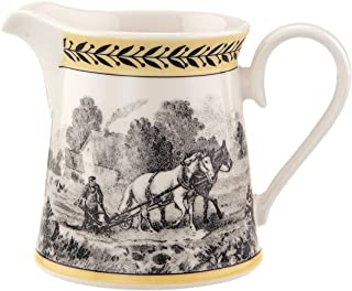 Villeroy & Boch 唯宝 Audun Ferme 奶粉,300 毫升,高度:3.4 英寸,优质瓷器,白色/多色,0.3 升