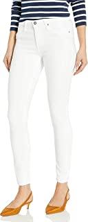 AG Adriano Goldschmied 女式紧身九分紧身毛边牛仔裤 白色 28
