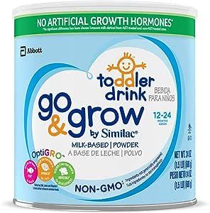 Abbott 雅培 Similac 铂优恩美力 Go&Grow 婴幼儿牛奶奶粉,24盎司(680克),6包