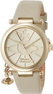 [维维安·韦斯特伍德]Vivienne Westwood 腕表 ORB POP 金色表盘 象牙色皮革 石英 VV006GDCM 女士