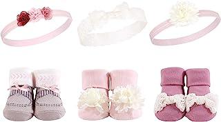 Hudson 女宝宝头带和袜子,6 件套