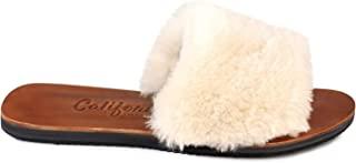 Californians Tory 女式奶油羊毛拖鞋美国制造
