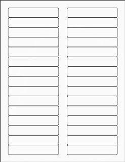 TYH Supplies 文件夹标签白色哑光 2/3 x 3-7/16 英寸,12,000 张标签,激光和喷墨打印,强粘性,REALCONCEAL 阻断技术与 Avery 5366 模板兼容