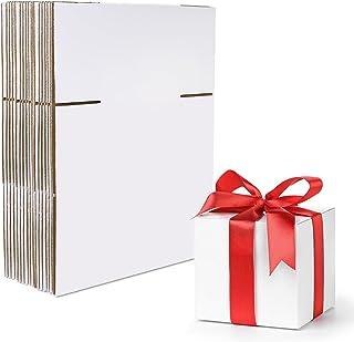 HANTAJANSS 15.24 x 15.24 x 15.24 厘米装运箱,25 件套,白色瓦楞纸箱,用于礼品包装、邮寄包装