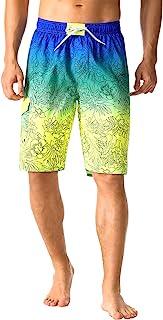 Nonwe 男式游泳短裤速干弹性腰沙滩裤,带工装口袋口袋