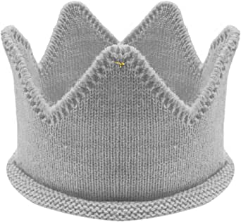 Allydrew 可爱婴儿生日派对皇冠头带帽