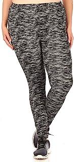 ShoSho 女式保暖加大码打底裤羊毛内衬印花冬季涤纶拉绒下装