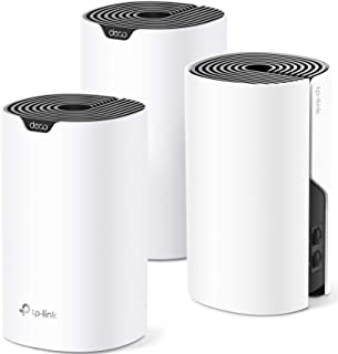 TP-Link Deco 全家网状WiFi系统 - 高达5,500平方英尺(约154.9平方米) 覆盖范围,WiFi 路由器/扩展器替换,千兆端口,无缝漫步,家长控制,兼容 Alexa(Deco S4 3 件装)