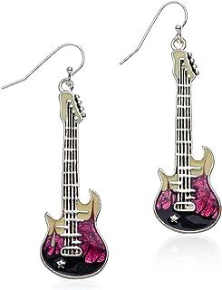 PammyJ 紫色电吉他吊坠耳环