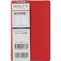 能率 NOLTY 笔记本 2021年 周历 能率笔记本 1 新红 1218 (2020年 12月开始)