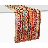棉质 Craft 黄麻棉 多中式桌巾 适合特殊场合、现代装饰、晚宴派对和日常使用。 多种颜色 13x72 Inches…