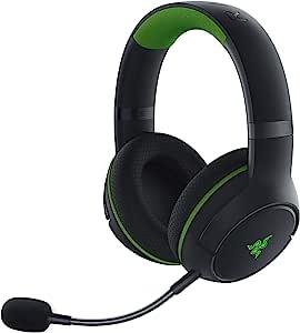 Razer 雷蛇 Kaira Pro 无线游戏耳机 适用于 Xbox 系列 X | S: TriForce Titanium 50 毫米驱动器 - 超心型麦克风 - *移动麦克风 - EQ 和 Xbox 配对 - Xbox 无线和蓝牙 5.0 - 黑色