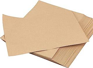 SHEUTSAN 400 张 8.5 x 11 英寸(约 21.9 x 27.9 厘米)棕色牛皮纸,100 GSM 牛皮纸文具纸质朴牛皮纸素描图纸棕色文具纸,适用于艺术、工艺、学校、办公室、家庭