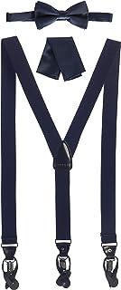Gioberti 男士可转换背带、领带和手帕套装