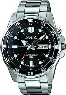 CASIO 男士指针式石英手表不锈钢表链MTD-1079D-1AVEF