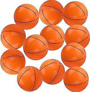 Playko 16 英寸(约 40.6 厘米)充气篮球 - 12 个装适用于泳池的篮球 - 充气沙滩球 - 夏季泳池篮球 - 运动主题派对的篮球装饰 - 篮球皮塔