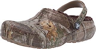 Crocs 卡骆驰 儿童经典 Realtree 内衬洞洞鞋   温暖毛绒拖鞋
