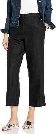 Alfred Dunner 女士加大码短款长裤后弹性侧口袋