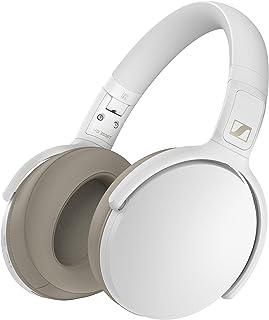 Sennheiser 森海塞尔 HD 350BT 蓝牙 5.0 无线耳机 - 30 小时电池寿命,USB-C 快速充电,虚拟助理按钮,可折叠 - 白色(HD 350BT 白色)