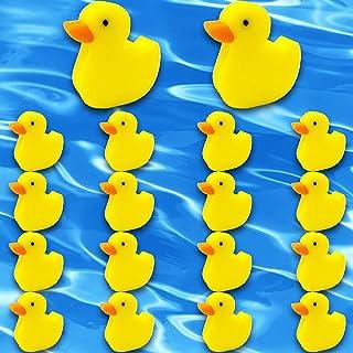 Wehhbtye 18 件吸油海绵 - 泳池热水浴缸 Scum 海绵,卸除浮动海绵,鸭形状 Grime 清洁海绵 适用于游泳池 SPA 热水浴缸