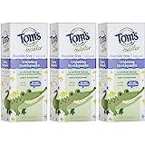 Tom's of Maine 胶状幼儿无氟天然牙膏,淡水果味,3件,1.75盎司/49.6克