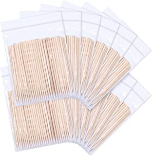 1200 支 2.76 英寸(约 6.9 厘米)微刀片签,化妆化妆刷涂抹棒棒棒,木棒,细刀片,纹身用品