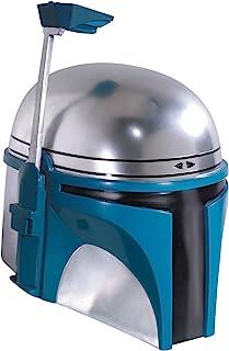 Star Wars Jango Fett 服装头盔  银色/蓝色 One Size