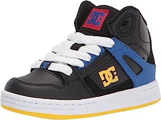 DC 中性儿童纯色高帮滑板鞋