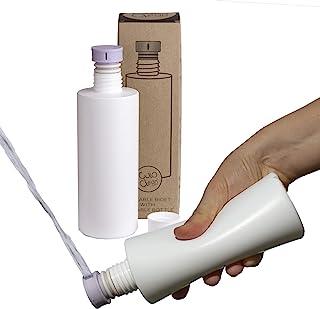 CuloClean 便携式坐浴盆带瓶,适用于厕所或旅行(淡紫色)与每个瓶子兼容。谨慎、生态、迷你、老人、喷雾器、生物、个人、手持式