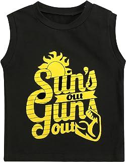 幼儿男孩 Sun's Out Guns Out 背心无袖衫 Sleeevless T 恤