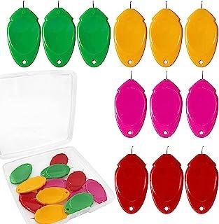 12 件针线器,手工缝纫,带储物盒,缝纫穿线器塑料线环 DIY 简单针线器手动机缝纫工具,用于缝纫工艺