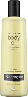 Neutrogena 露得清 轻质润肤油,用于干性皮肤,轻质芝麻成分中的纯净身体保湿霜,16 盎司(约453.59克),473毫升