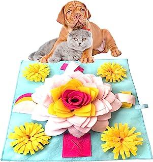 Anpress Snuffle 狗狗垫宠物喂食垫互动狗狗玩具狗狗拼图玩具鼻子工作游戏训练狗狗感官垫用于大脑刺激觅食技能释放压力,便携可洗