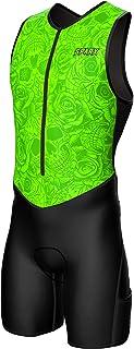 Sparx X 铁人三项套装男式赛车三项骑行皮肤套装自行车游泳跑步(*骷髅,3XL)