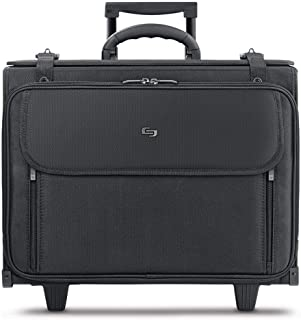 Solo 17.3英寸笔记本电脑带滑轮公文箱包 悬挂式的文件夹设计 短途差旅 黑色 B151 (美国进口直采)