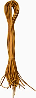 reLACER Wide Width 1/4-Inch Leather Laces for Baseball Gloves (Pack of 12)