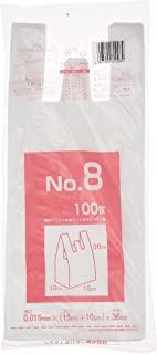 系统聚合物 半透明 收银袋 乳白色 25x36cm 厚度 0.015mm LP-8 100张装