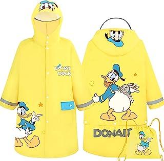 Disney 唐老鸭连帽雨衣防雨夹克斗篷外套适合男孩幼儿儿童